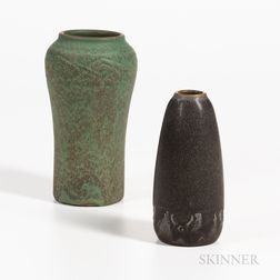 Two Rookwood Pottery Matte Glaze Vases