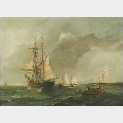 American School, 19th/20th Century  Lot of Two Marine Scenes:  ...Long Island Sound