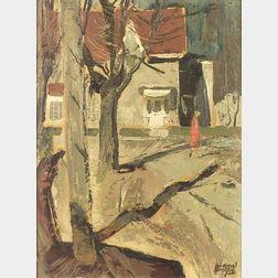 John Adrian Darley Dingle (Canadian, 1911-1974)  Street Corner, Ontario