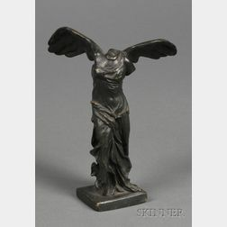 "Bronze Grand Tour Figure of ""Winged Victory"", Nike of Samothrace"