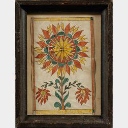 Painted Floral Drawing/Reward of Merit