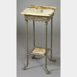 Continental Renaissance Revival Onyx and Bronze Hall Stand