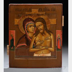 Russian Icon Depicting Weep Not for Me, Mother