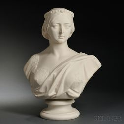 Copeland Parian Bust of Queen Victoria