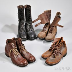 Four Pairs of WWII Boots