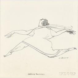 David Levine (American, 1926-2009)      Isadora Duncan