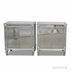 Pair of Bombay Mirrored Cabinets