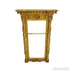 Classical Carved and Gilt-gesso Split-baluster Tabernacle Mirror