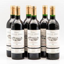 Chateau Rauzan Segla 1994, 6 bottles