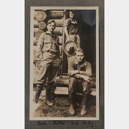 "Old Photograph Album Titled ""Absaroka Lodge, Yellowstone Park Rocky Mt. Park, 1924,"""