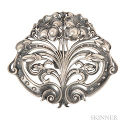 Art Nouveau Sterling Silver Brooch, Gorham