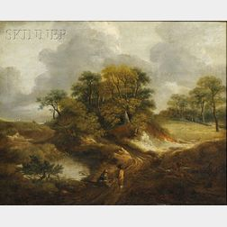 School of Thomas Gainsborough (British, 1727-1788)      View Near Sudbury