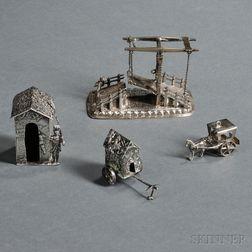 Three Continental Silver Miniatures