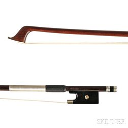 French Nickel Silver-mounted Violin Bow, Cuniot-Hury