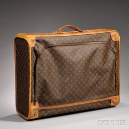 Louis Vuitton Leather and Coated Canvas Suitcase