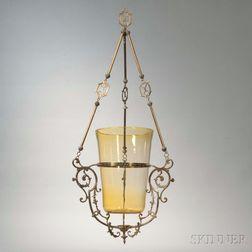Brass and Glass Yahrzeit Lamp