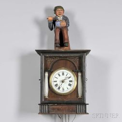 """Potato Eater"" Automata Black Forest Wall Clock"