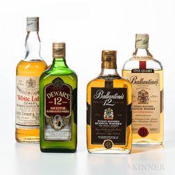 Mixed Scotch, 4 bottles
