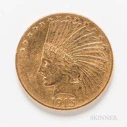 1913 $10 Indian Head Gold Coin