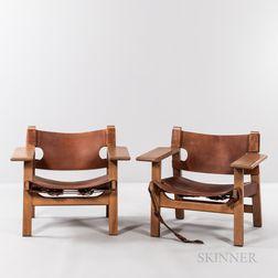 Two Attributed to Borge Mogensen (Danish, 1914-1972) Spanish Chairs