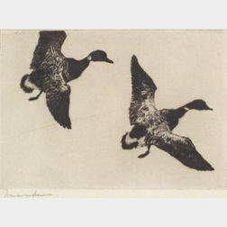 Frank Weston Benson (American, 1862-1951)    Flying Brandt
