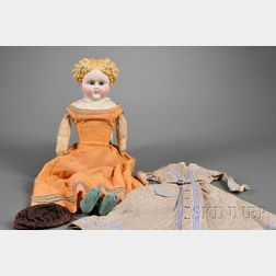 Parian Shoulder Head Doll
