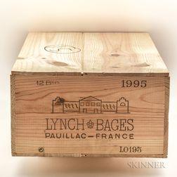 Chateau Lynch Bages 1995, 12 bottles owc