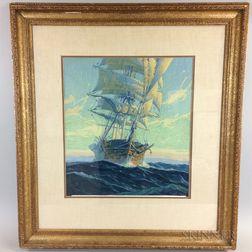After Anton Otto Fischer (American, 1882-1962)    Ship Under Sail
