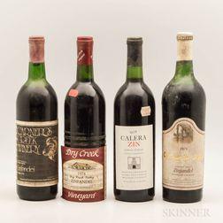 Mixed Vintage California Zinfandels, 4 bottles