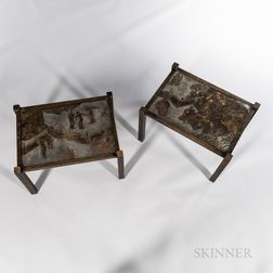 """Philip (1907-1987) and Kelvin Laverne (b. 1936) """"Chan"""" End Tables"""