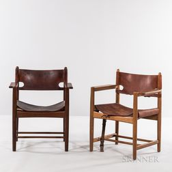 Saddle Leather Armchairs