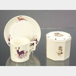 Two Wedgwood Alfred Powell Decorated Queen's Ware Items