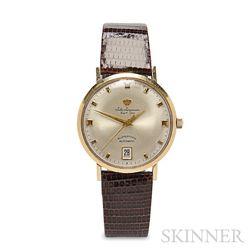 Gentleman's 14kt Gold Superthin Automatic Wristwatch, Jules Jurgensen