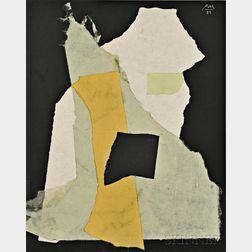 Robert Motherwell (American, 1915-1991)      Night Music Opus #24