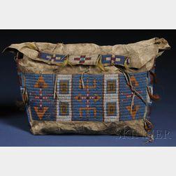 Central Plains Beaded Hide Possible Bag