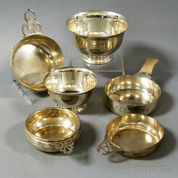 Six Pieces of Small Sterling Silver Tableware