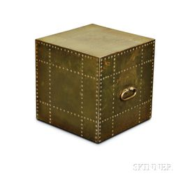 Brass-clad Cube Table