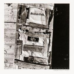 Walker Evans (American, 1903-1975)       Barn Door, Nova Scotia