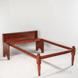 Red-painted Pine Folding Bed