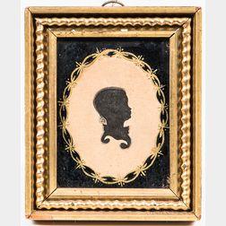 Silhouette of William Mendrin
