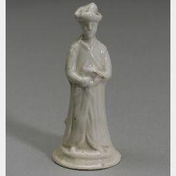 Miniature Staffordshire White Salt Glazed Earthenware Figure of a Chinaman