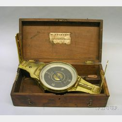 Surveyor's Brass Vernier Compass by H. Pfister