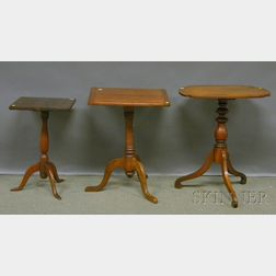 Three Assorted Wood Candlestands