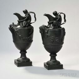 Wedgwood Black Basalt Wine and Water Ewers