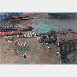 Joseph De Martini (American, 1896-1984)      East Side, Sunday