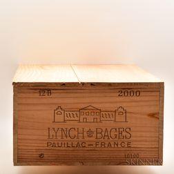 Chateau Lynch Bages 2000, 12 bottles (owc)