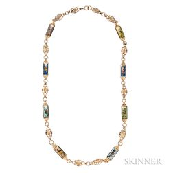 Antique Gold and Swiss Enamel Chain