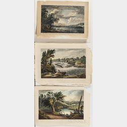 Five Unframed Hudson River Lithographs