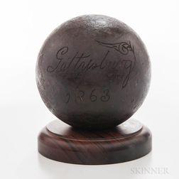 Twelve-pound Solid Shot from Gettysburg