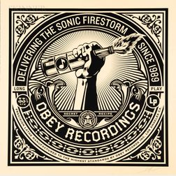 Shepard Fairey (American, b. 1970)      Sonic Firestorm